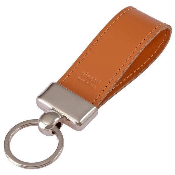 Schlüsselanhänger Leder hellbraun