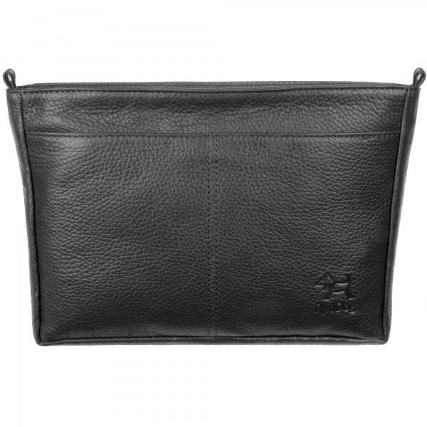 Handtaschen Organizer Leder schwarz RedDog Design