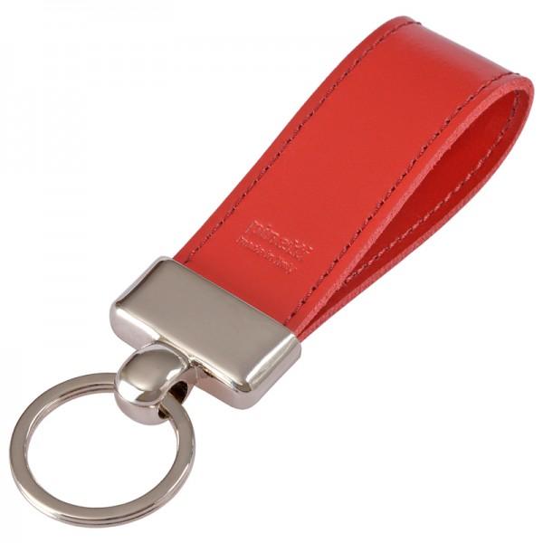 Pinetti Schlüsselanhänger Leder Rot