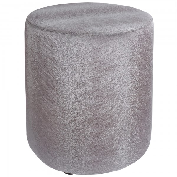 pouf silber / grau stoff de kussenfabriek