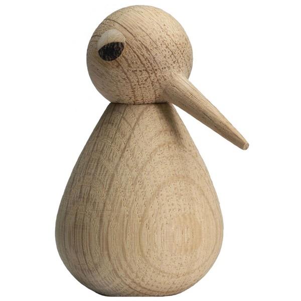Bird Holzfigur Vogel Eiche natur ArchitectMade