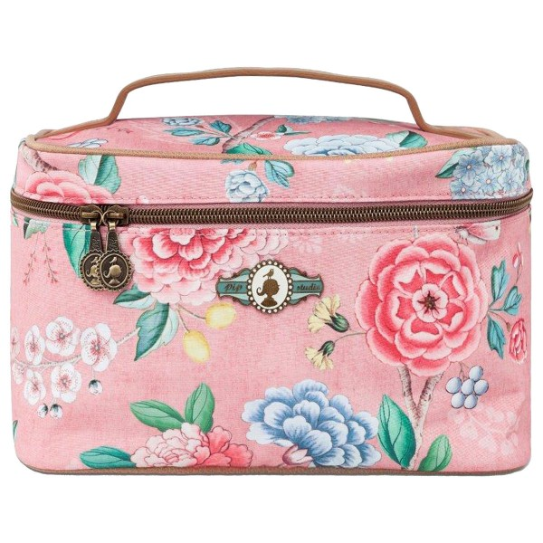 Beauty Case Square Medium Floral Pink