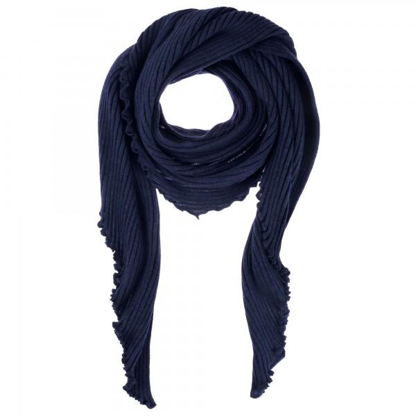 Dreieck Schal Lammwolle blau Eagle products