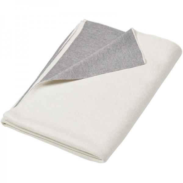 Merino Decke Doubleface grau/weiß Lenz & Leif