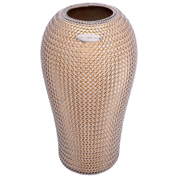 Dekovase Flame mit Kettengeflecht Le labo design