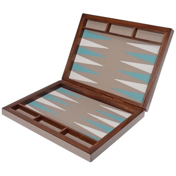 GioBagnara Handgefertigtes Backgammon Spiel Stone