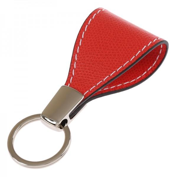 Schlüsselanhänger Golf Leder rot Giobagnara