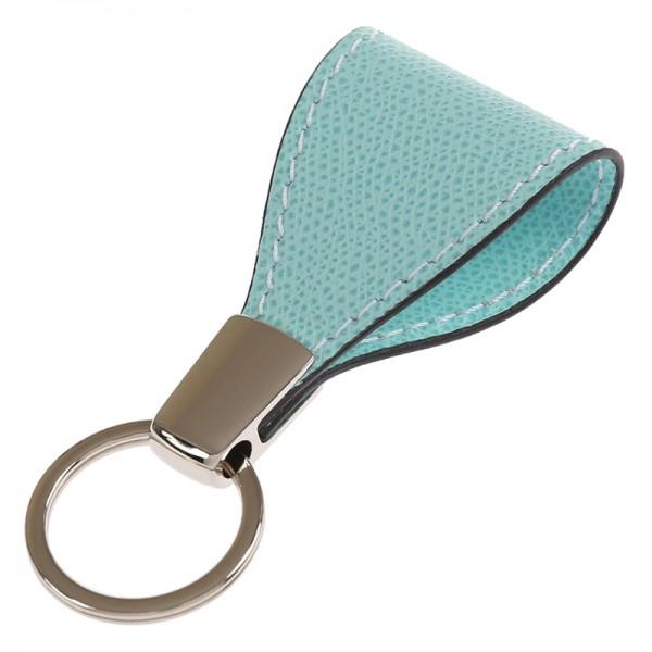 Schlüsselanhänger Golf Leder blau Giobagnara