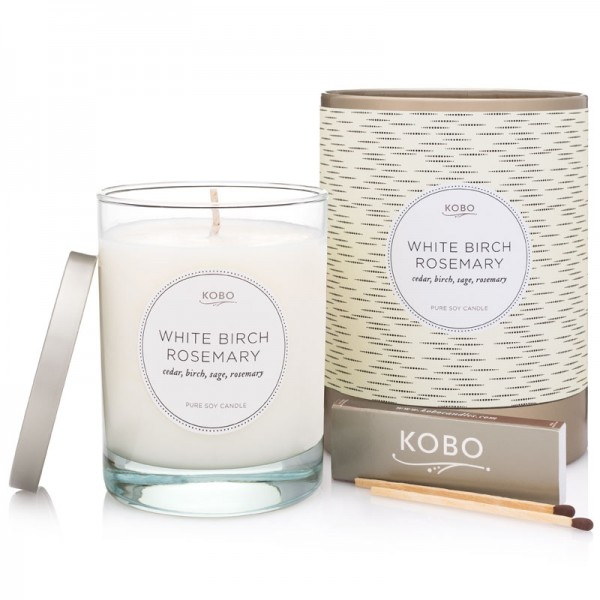 KOBO Duftkerze White Birch Rosemary