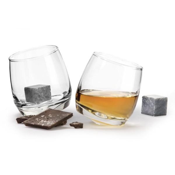 Sagaform Geschenkset Whisky Gläser mit Kühlstein