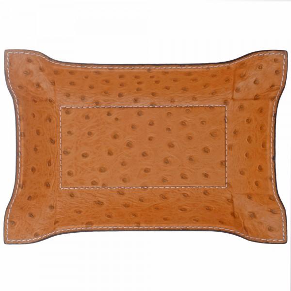 Taschenleerer Leder rechteckig braun Giobagnara