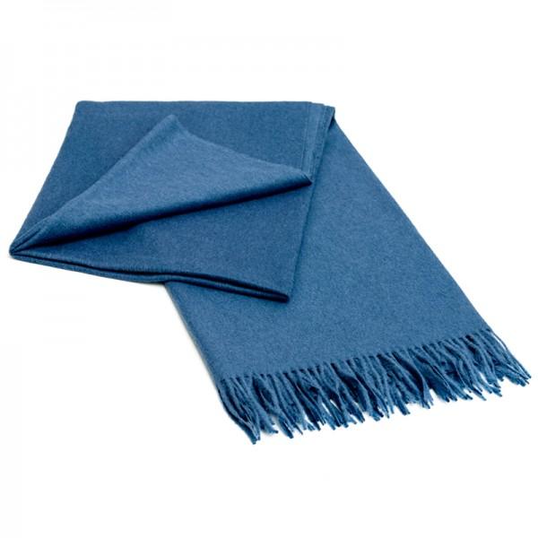 Alpaka Decke blau