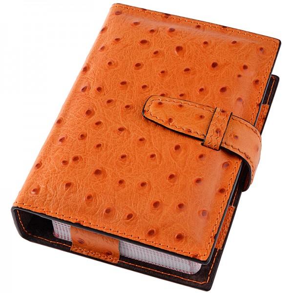 Spielkarten Etui Leder orange Giobagnara