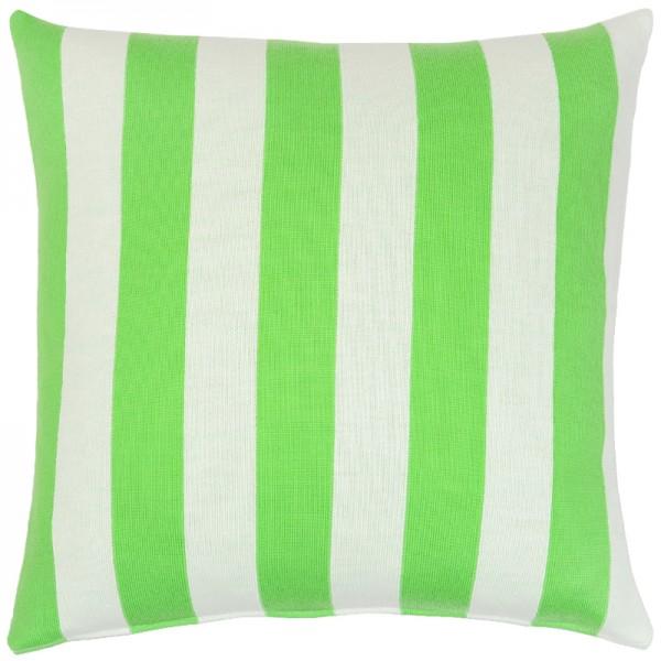 Merino Kissen Stripes grün