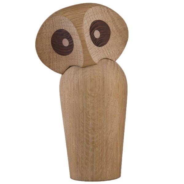 Holzfigur Eule Owl Eiche natur