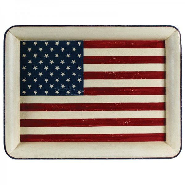 Serviertablett amerikanische Flagge