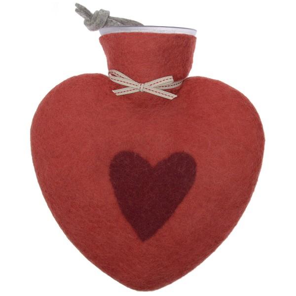 Dorothee Lehnen Herzwärmflasche Rot