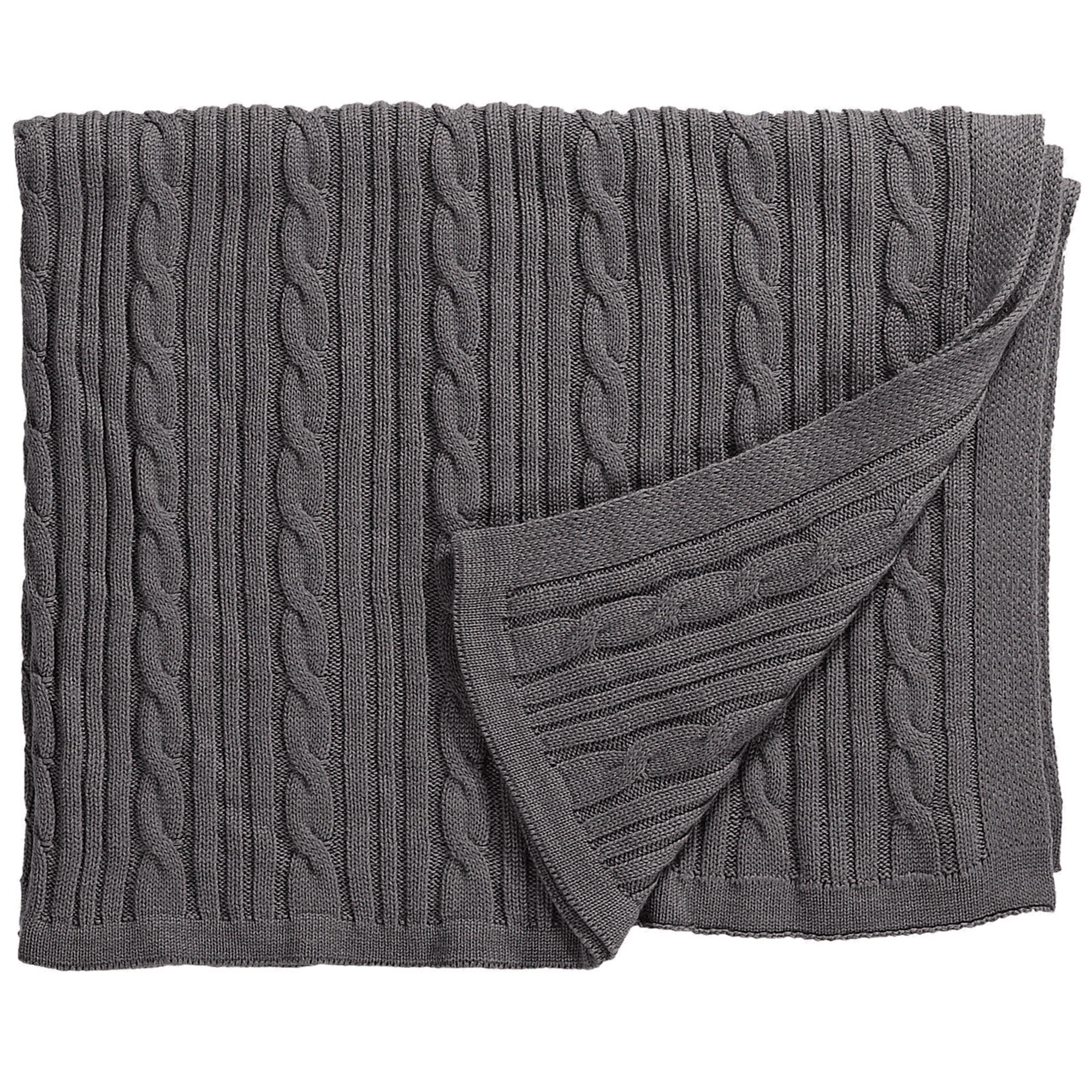 strickdecke zopfmuster grau von eagle products. Black Bedroom Furniture Sets. Home Design Ideas