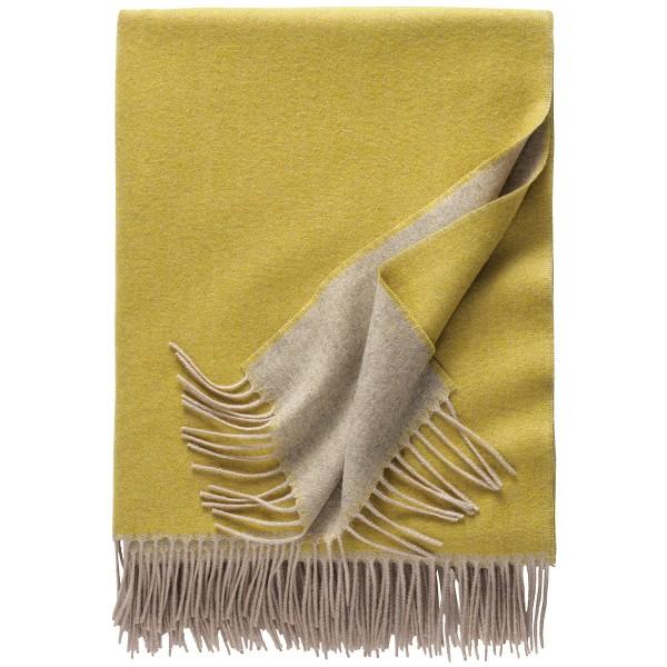 Kaschmirdecke Alassio hellgrau/ocker eagle products