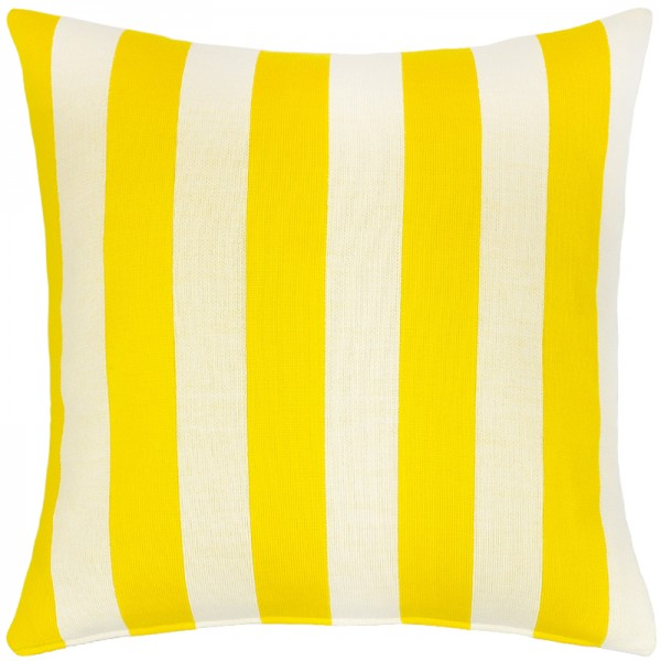 Merino Kissen Stripes gelb