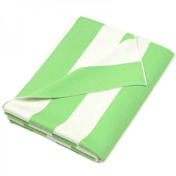 Merino Decke Strips grün Lenz Leif