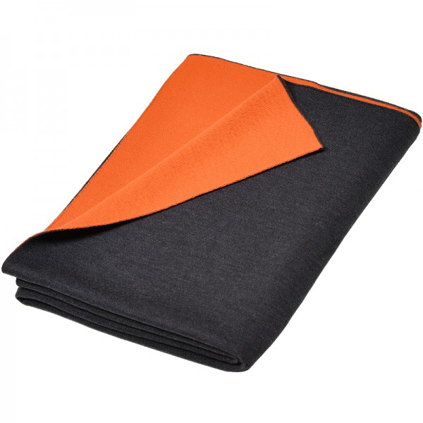 Merino Decke Doubleface dunkelgrau/orange Lenz & Leif