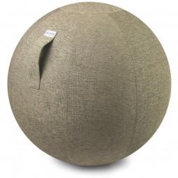 Stilvoller Sitzball Stoffbezug kiesel