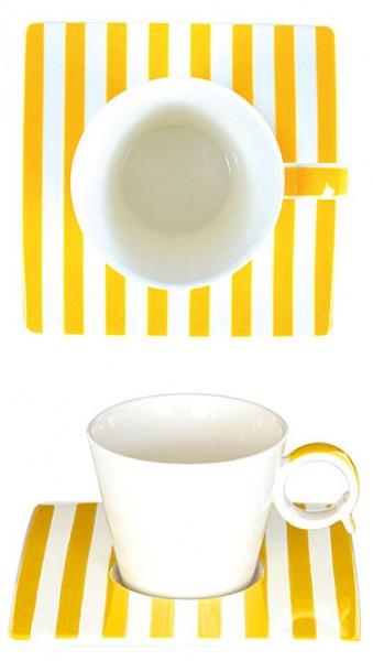 Espresso-Tasse Streifen gelb
