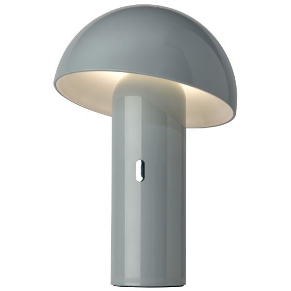 Sompex Akku LED Tischleuchte Svamp Grau