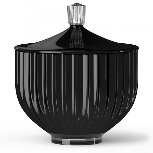 Lyngby Bonbonniere Glas Ø 14 schwarz