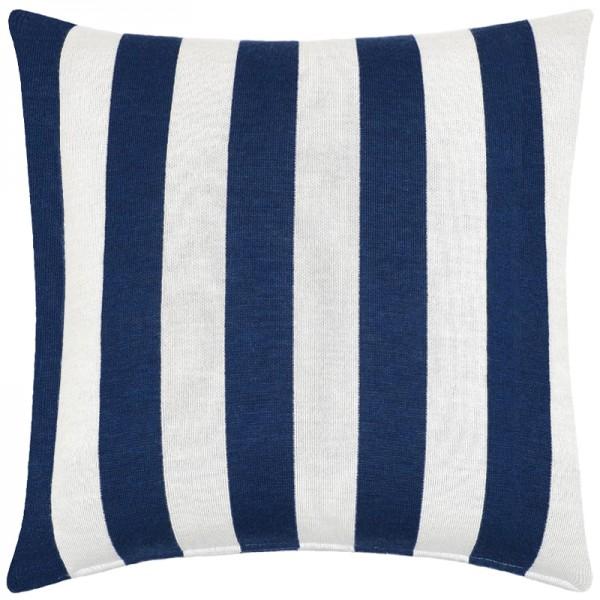 Merino Kissen Stripes blau