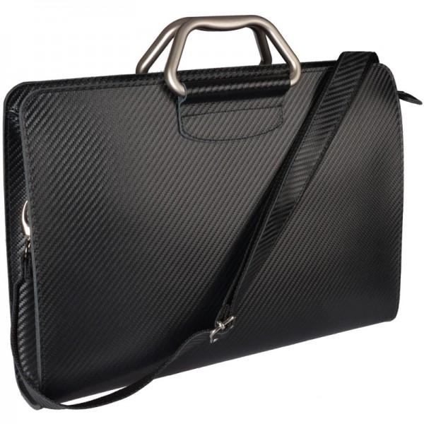 Businesstasche Uno Bag Leder schwarz pinetti