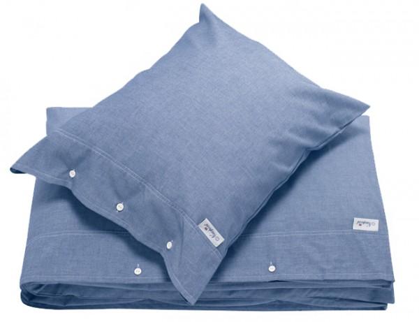 Bettwäsche Chambray blau