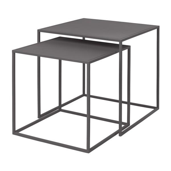 Blomus Beistelltisch FERA 2er Set Steel Gray