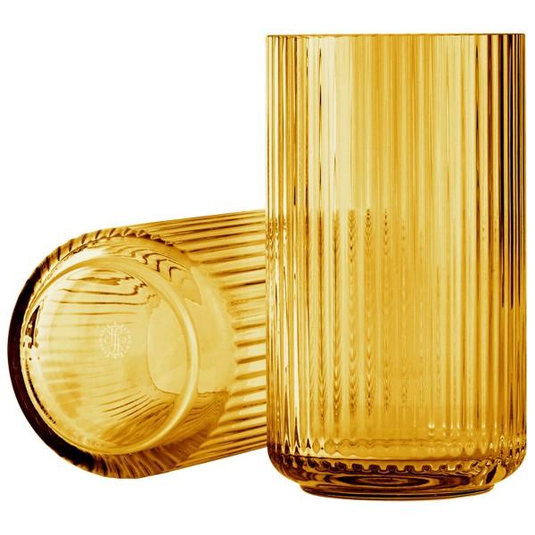Lyngby Vase Glas Amber 20cm