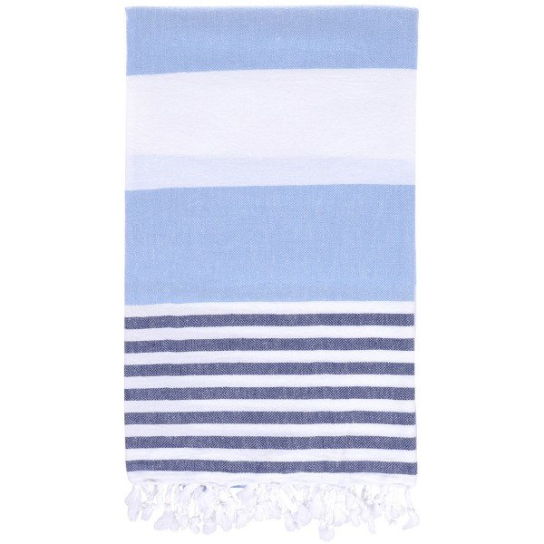 Hamamtuch Perth hellblau / marineblau