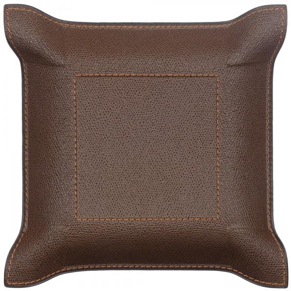 Taschenleerer Leder quadratisch braun Giobagnara