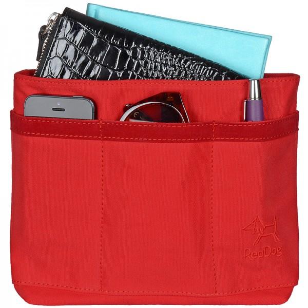 Handtaschen Organizer Canvas rot RedDog Design