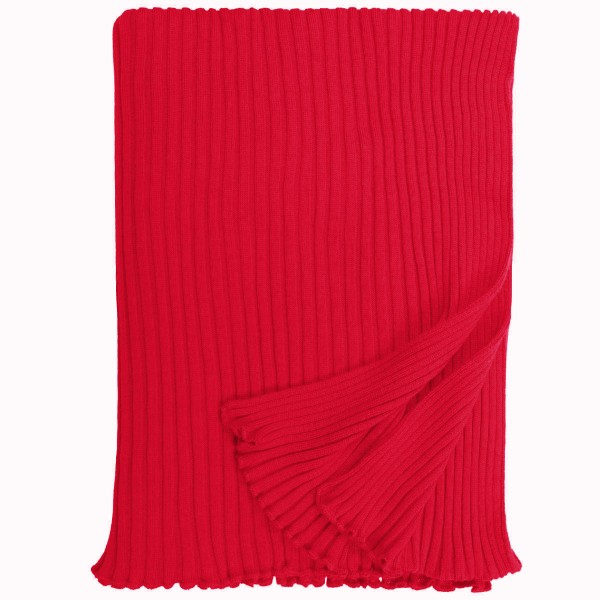 Strickschal Lammwolle rot eagle products