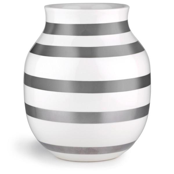 Omaggio Vasen silber 20 cm Kähler