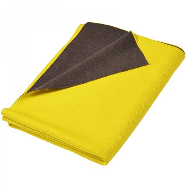 Merino Decke Doubleface gelb / braun