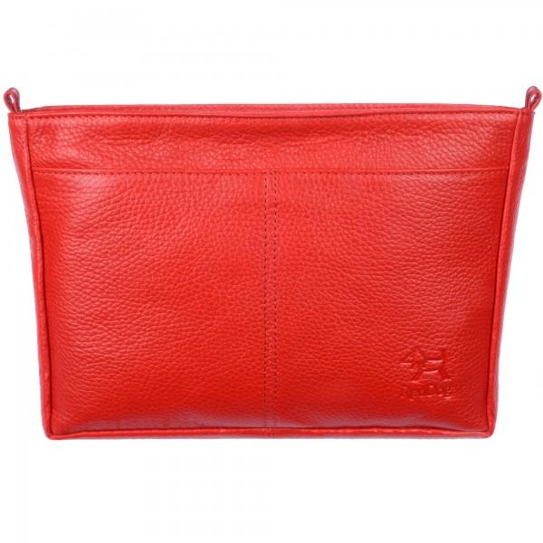 Handtaschen Organizer Leder rot RedDog Design