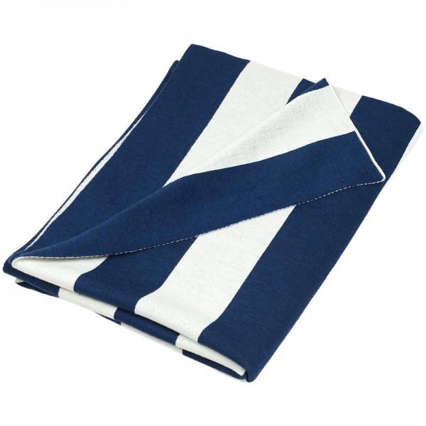 Merino Decke Strips blau Lenz Leif