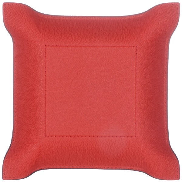 Taschenleerer Leder quadratisch rot