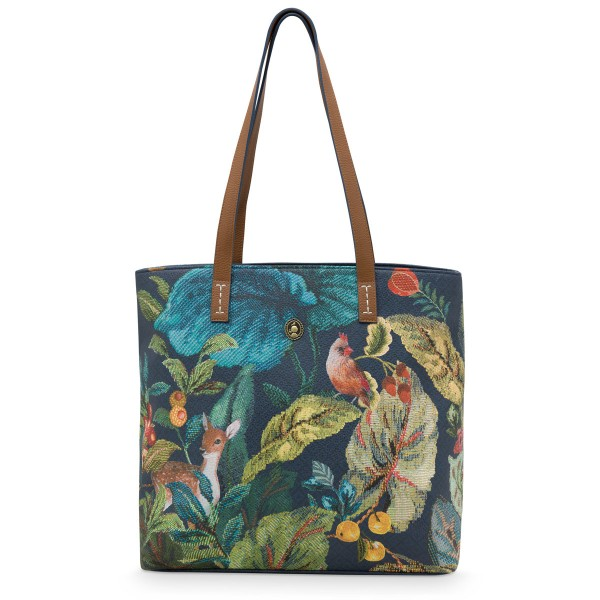 Pip Studio Shopper Medium Winter Foliage Blau