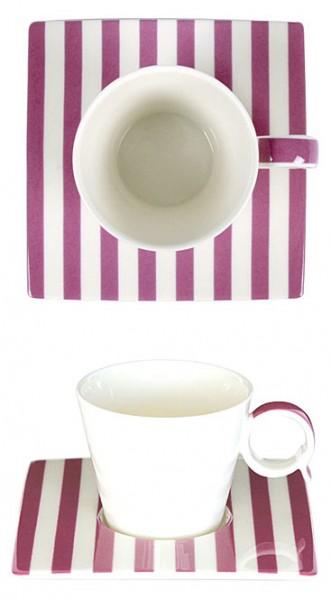 Bruno Evrard Espresso-Tasse Streifen Lila