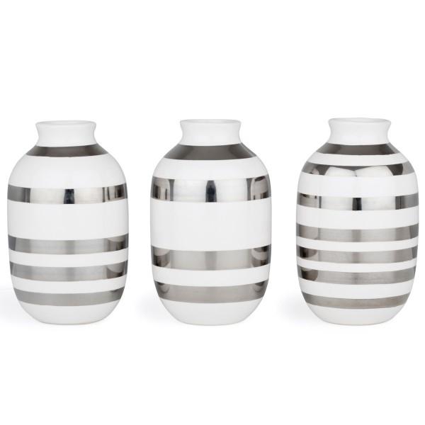 Omaggio Vasen mini silber Kähler design
