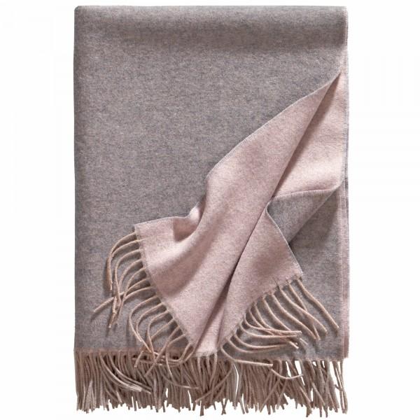 Kaschmirdecke Alassio grau/rosa eagle products