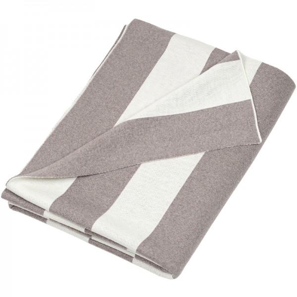 Merino Decke Strips beige Lenz Leif