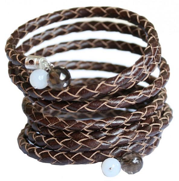 Spiralarmband braun